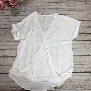 Tops - Plus Size Off White short sleeved pullover blouse